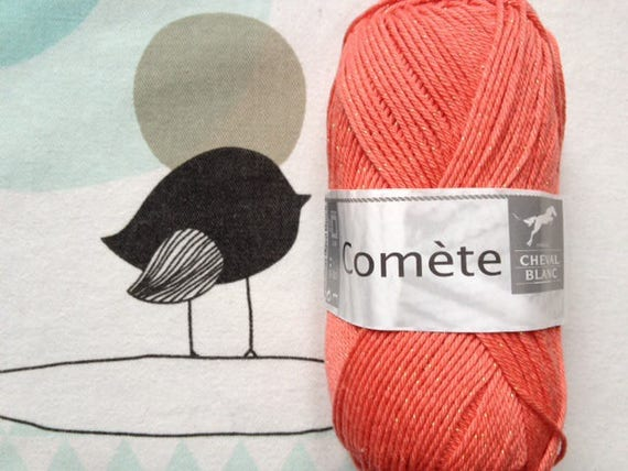 WOOL Comet guava - white horse