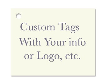 100 CUSTOM Hang Tags / 100 Strings Included -  Price Tags