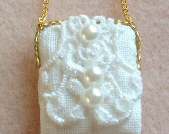 1/12th scale dollhouse handmade miniature bag