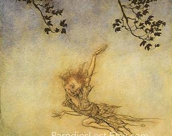 PUCK FAIRY Shakespeare Midsummer Night's Dream Fine Art Fantasy Print