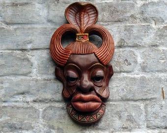 Negress Africa Bas relief, Mask