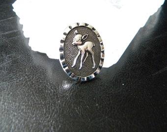 Vintage Bambi Scarf Clip