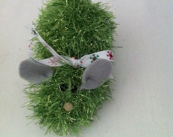 Eyelash Yarn Cat-Knit Mouse Toy with Catnip- 9 fun colors!