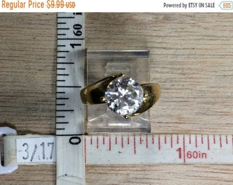 10%OFF3DAYSALE Vintage 925 Sterling Silver 4g Gold Washed Cz Ring Size 6 Used
