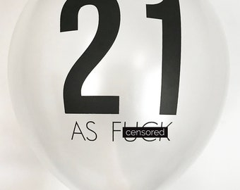 Birthday Balloons. Party Balloons. 21 AF.