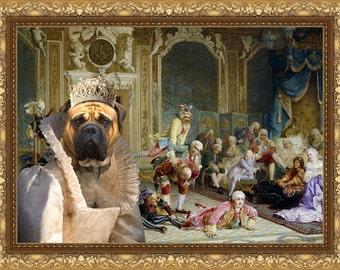 Bullmastiff Art CANVAS Print Fine Artwork  Dog Portrait Dog Painting Dog Art Dog Print  Perfect Dog Lover Gift for Her Gift for Him