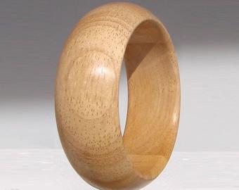 Bracelet wide wood rubber