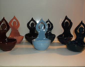 Pagan, Wicca, Moon Goddess Bowl, Altar Bowl, Handcrafted Ceramic,