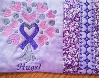 Cancer tree mug rugs personalize it!