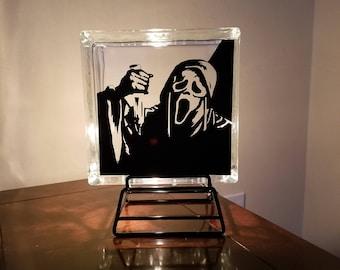 Scream ghost face light
