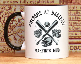 Baseball player gift for baseball coach PERSONALIZED baseball mug base ball fan awesome baseball coffee mug thank you team gift trophy