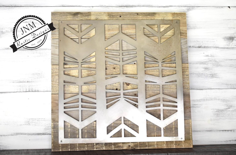Wood And Metal Door Wall Decor Enchanting Reclaimed Wood Metal Sign Metal And Wood Large Metal Art 2018