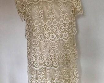 Lacy Goddess midi tier dress medium