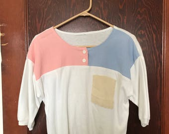 Vintage 80's 3/4 Sleeve Blouse