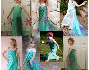 Frozen Fever Elsa Inspired Dress PDF Sewing Pattern, Sizes 4-12