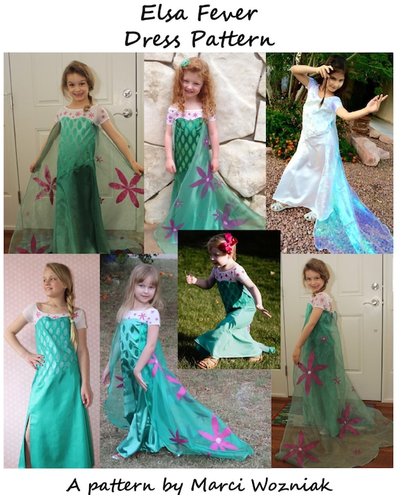 Frozen Fever Elsa Inspired Dress PDF Sewing Pattern Sizes