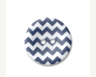 Summer Clearance Riley Blake Carded Chevron Button Set of 4 in Navy Blue