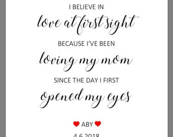 PRINTABLE 8x10 Love At First Sight Wedding Gift for Mother of the Bride