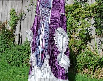 Romantic Fairytale Wedding Dress Renaissance Gown Size Large OOAK