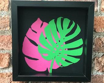 Exotic Leaf Botanicals 4 - Original paper craft art.