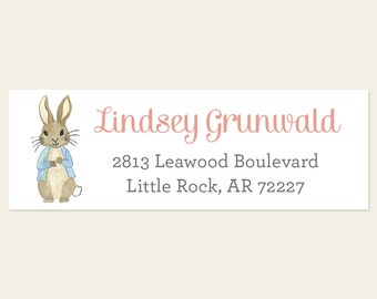 Peter Rabbit Return Address Labels -Rabbit Return Address Labels, Bunny Labels, Cute Bunny Label, Beatrix Potter Address Label, Rabbit Label