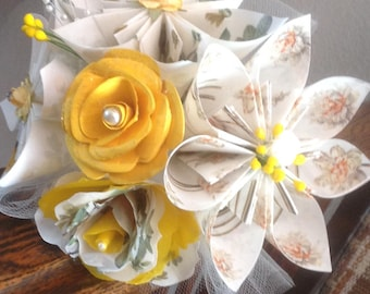 Sunny Yellow Origami Bouquet for A Special Occasion