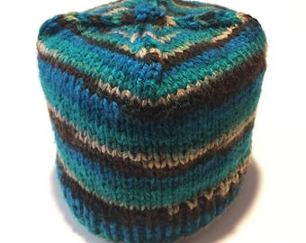 Multi Color Toilet Paper Cozy / Tissue Dust Cover / Knitted / Housewarming Gift