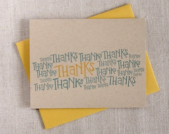 Thanks A Bunch / Thank You Notes / Thank You Note Card / Modern Stationery / Hand Lettered Cards / Minimalist Note Cards / Modern Design