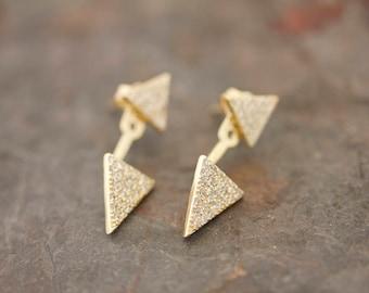 Chaquetas de oído de doble triángulo