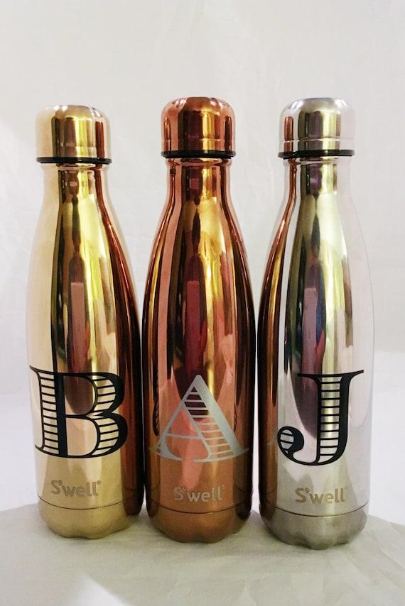 New Metallic Collection Monogram Swell Bottles - Sorority, Bridesmaid, Birthday, Christmas, Workout, Yoga, Greek Swell Bottle