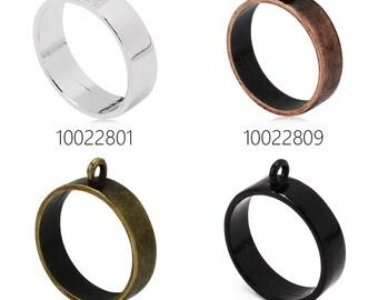 10PCS 25mm Round Open Back Bezel Pendant, Open Back for Resin, Polymer, etc. Open Back Frame with 1 Loop 100228
