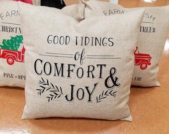 Good Tidings of Comfort & Joy Pillow