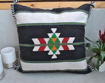 Handmade Large Pillow Case, Bedouin Floor Pillow Pouf, 100% Wool