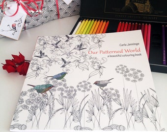 Colouring book, Stress relief gift for her, Adult coloring book, Mindfulness gift