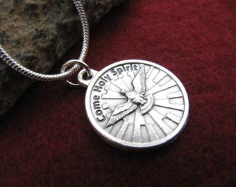 Confirmation Holy Spirit Pendant Necklace - For Girls