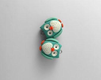 Owl Earrings, Clay Earrings