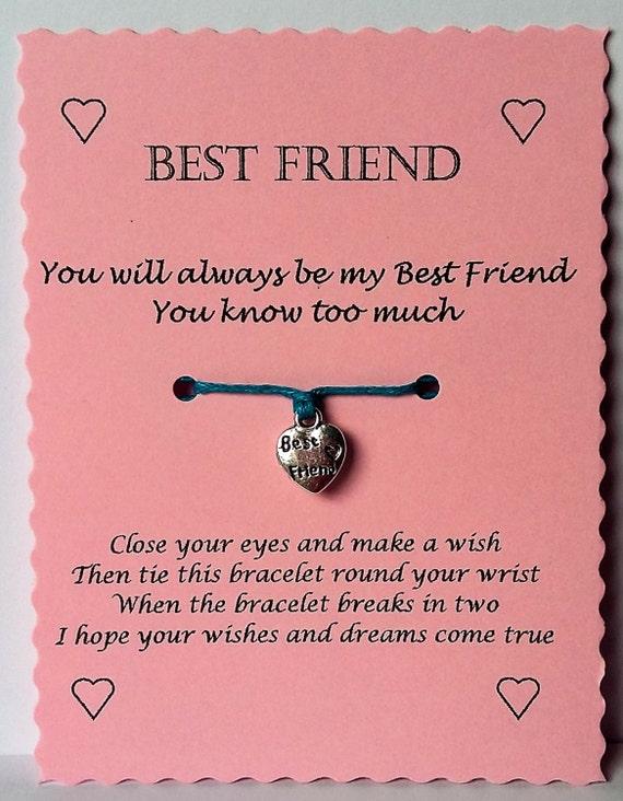 Bester Freund Geschenk Freund Wunsch Armband