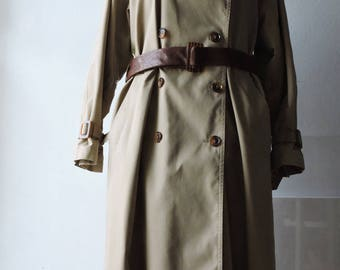 SALE!--- Vintage ,Trench coat, khaki beige, only US size 12-16