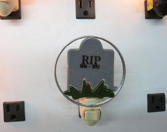 Tombstone Night Light -  R.I.P. - Halloween Nightlight - Already Made & Ready to Ship
