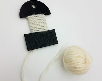 WPI tool, wraps per inch, spinning notion, yarn counter, wpi, wpi guide, 3D printed, spinning notion, yarn gauge tool