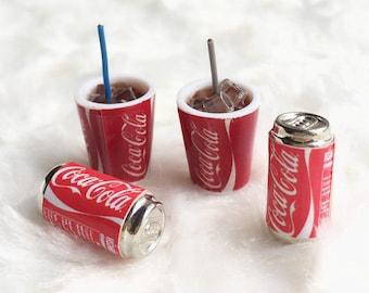Miniature Coke Cup and Coke Can Set,Miniature Coke,Dolls and Miniature,Miniature Beverage ,Miniature drink,Miniature Pepsi Cans,Miniatures