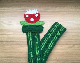 Crochet Carnivorous Plant Scarf
