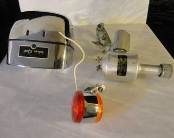 deluxe Sport 6 volt bicycle headlight and taillight complete set with a deluxe Sport dynamo generator!