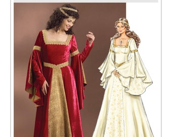 4571 Butterick,Medieval Renaissance, Arwen Lord of the Rings, Maid Marian, Fair Maiden, Butterfly Sleeves, Cosplay, costume, halloween