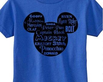 Mickey Head Prince Names Shirt - Prince - Prince Charming - Magic Kingdom - Disneyland - Disney World - Mickey Mouse - Minnie Mouse