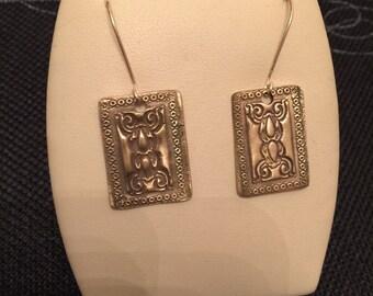 Bronze handmade design earrings