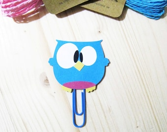 Owl Planner Clip, Owl Paper Clip, Planner Accessories, Stationery, Paperclips, Page Marker, Animals Book Marker, Cute Owl Bookmark