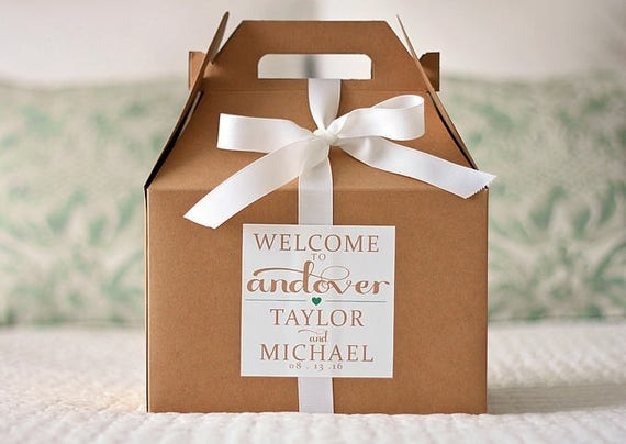 Wedding Labels For Gift Bags: Wedding Gift Bag Labels Hotel Welcome Bag Stickers For
