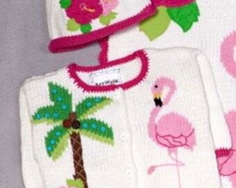 Flamants rose ArtWalk pull et bonnet