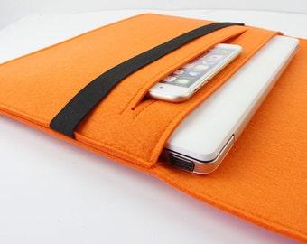 "Felt Macbook 13.3"" pro retina sleeve, Macbook air 13 sleeve, macbook air 13 case, Macbook air sleeve, laprop sleeve, laptop case ZMY096ORSP3"